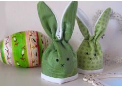 Eierwärmer grün Häschen