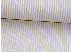 Stoff Streifen beige