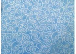 Stoff Kringel blau
