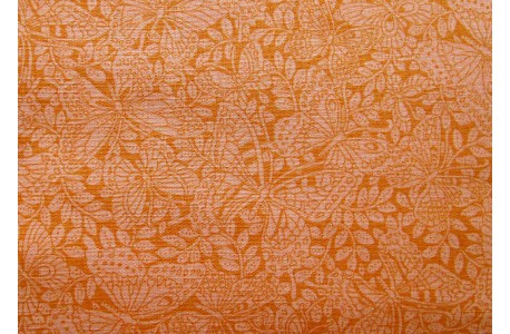 Stoff Schmetterlinge orange