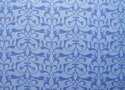 Stoff Ornamente blau