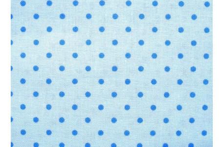 Stoff Punkte blau