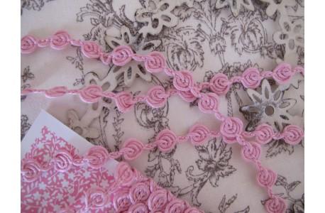 Soutache Röschenband rosa