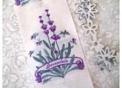 Aufnäher Label Lavendel