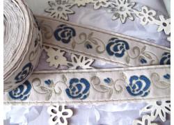 Webband Rosenranke blau