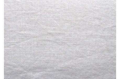 Stoff Leinen creme weiß