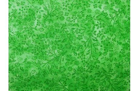 Stoff Streublümchen grün