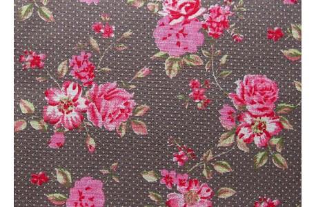 Stoff Rosen pink taupe
