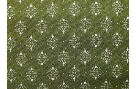 Stoff Ornamente grün