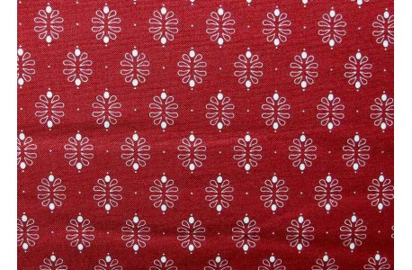 Stoff Ornamente rot