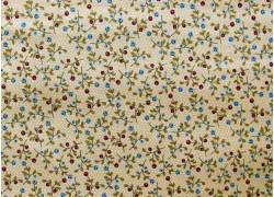 Stoff Streublümchen beige