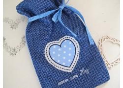Wärmflaschenbezug blau
