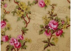 Stoff Blumen gelb