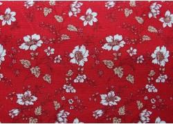Fat Quarter rot creme weiß Blumen