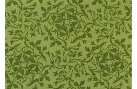 Stoff Blumen grün