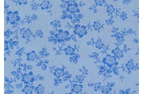Stoff Blätter blau