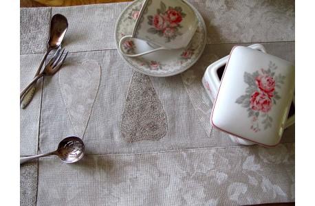 Tischläufer creme natur weiß