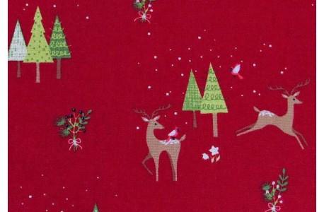 Stoff Weihnachten rot