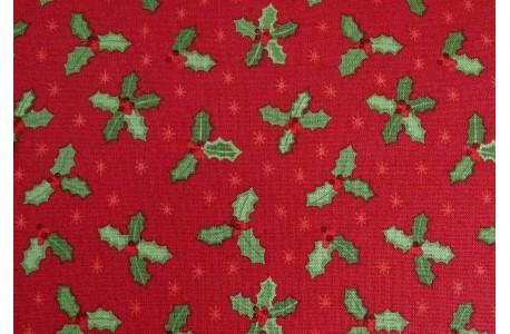 Stoff Weihnachten rot grün