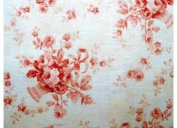 Stoff Rosen creme weiß rosa
