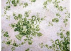 Stoff Rosen creme grün
