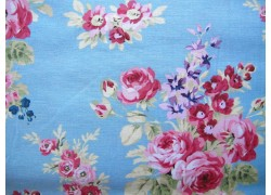 Fat Quarter rosa blau Rosen