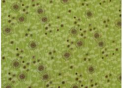 Fat Quarter grün braun Blümchen