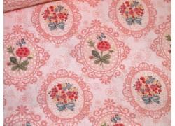Fat Quarter Blümchen rosa