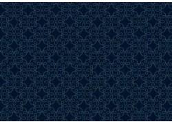 Stoff Ornamente dunkel blau