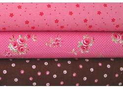 Stoffset rosa pink braun Westfalenstoffe