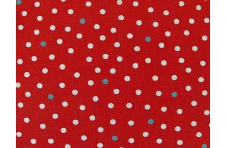 Stoff Punkte rot weiß grün