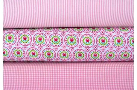 Stoffset rosa grün
