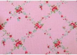 Stoff Röschen rosa pink