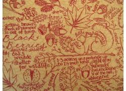 Stoff Herbst rot ocker
