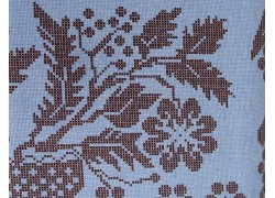 Fat Quarter blau braun