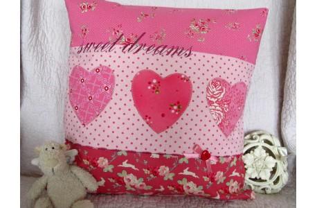 Kissen Herzen pink
