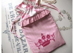 Wärmflaschenbezug  rosa Krone