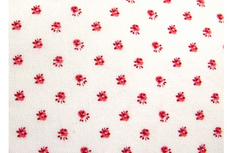 Stoff Rosen rot weiß