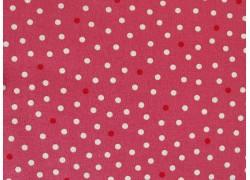 Stoff Pünktchen rosa rot weiß
