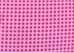 Stoff Rauten rosa pink