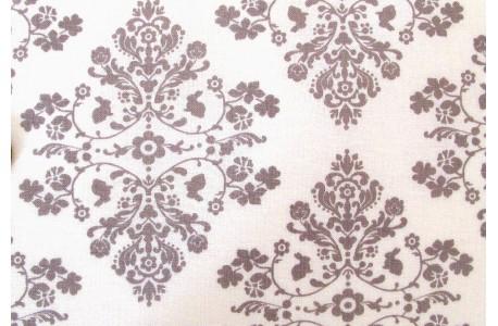 Stoff Häschen grau weiß