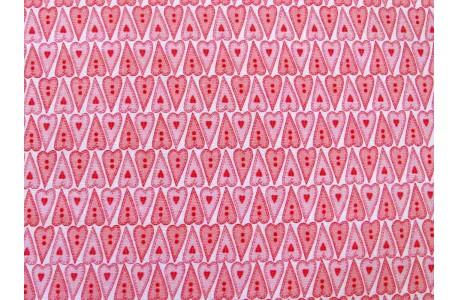 Stoff Herzchen rosa