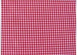 Stoff Karo rot weiß