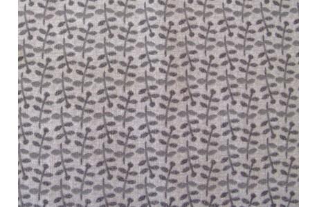 Stoff Blätter grau