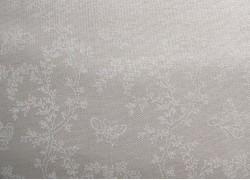 Stoff Blumenranken weiß