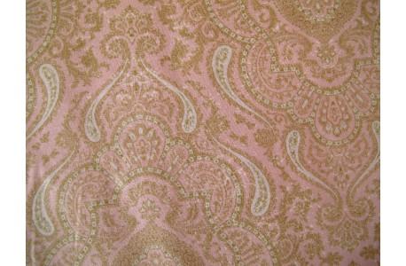 Stoff Ornamente rosa beige