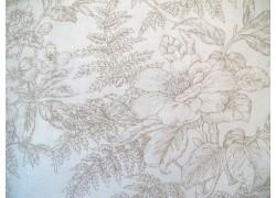 Stoff Blumen creme beige