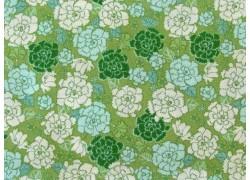 Patchworkstoff Stoff Blumen grün