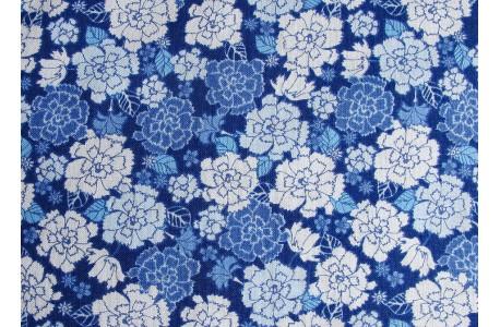 Stoff Nelken blau