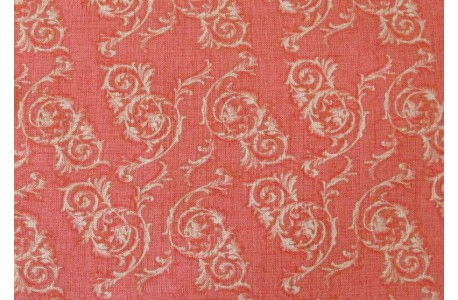 Patchworkstoff apricot rosa Ornamentstoff